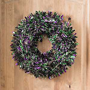 Mardi Gras Decorative Tinsel Wreath