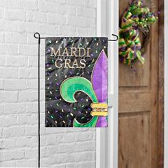 Fleur-de-Lis Confetti Mardi Gras Flag Set