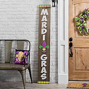 Wood Mardi Gras Porch Board
