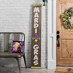 Wood Mardi Gras Porch Board