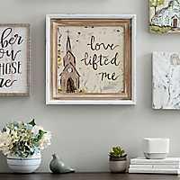 Love Lifted Me Framed Art Print