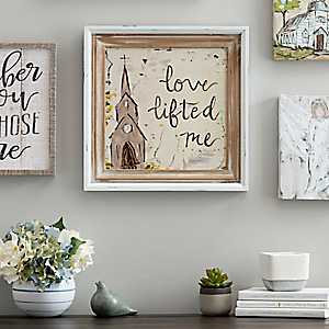 Love Lifted Me Framed Art Print