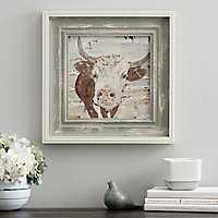 Neutral Bull Framed Art Print