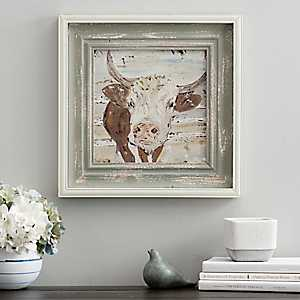 Neutral Bull Framed Art Print