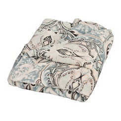 Classic Paisley Pom-Pom Blanket