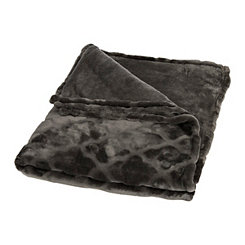 Charcoal Embossed Quatrefoil Oversized Blanket