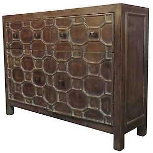 Antique Brown Skylar 2-Door Cabinet