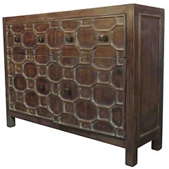 Antique Brown Skylar 2-Door Cabinet