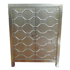 Antique Champagne Skylar Bar Cabinet
