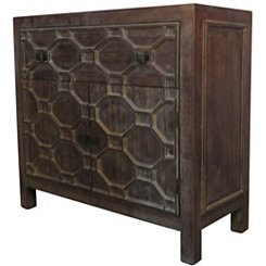 Small Antique Brown Skylar 2-Door Cabinet