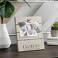 Grandpa Wood Plank Picture Frame with Clips, 4x6