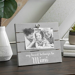 Mimi Wood Plank Picture Frame with Clip, 6x4
