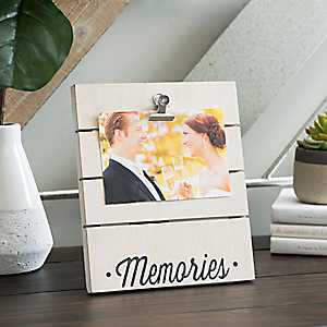 Memories Wood Plank Picture Frame with Clip, 4x6