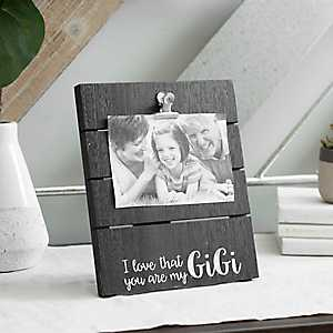 My Gigi Wood Plank Picture Frame with Clip, 4x6
