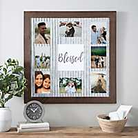 Blessed Galvanized Metal Collage Frame