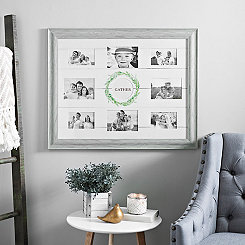 Rustic Monogram Wreath Collage Frame