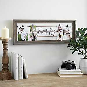 Shiplap Family Clip Collage Frame