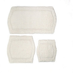 Ivory Paradise 3-pc. Memory Foam Bath Mat Set