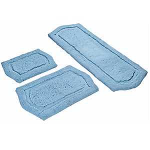 Spa Blue Paradise 3-pc. Memory Foam Bath Mat Set