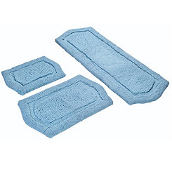 Spa Blue Paradise 3-pc. Memory Foam Bath Mat Set