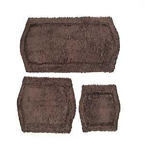 Chocolate Paradise 3-pc. Memory Foam Bath Mat Set