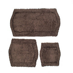 Chocolate Paradise 3-pc. Memory Foam Bath Mat Set