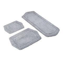 Gray Paradise 3-pc. Memory Foam Bath Mat Set