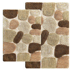 Khaki Pebbles 2-pc. Bath Mat Set