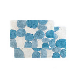 Aquamarine Pebbles 2-pc. Bath Mat Set
