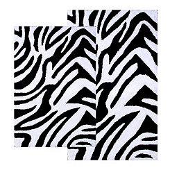 Zebra 2-pc. Bath Mat Set