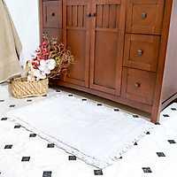 White Crochet Trim 2-pc. Bath Mat Set