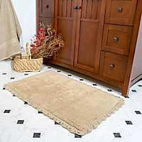 Linen Crochet Trim 2-pc. Bath Mat Set