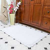 Ivory Crochet Trim 2-pc. Bath Mat Set