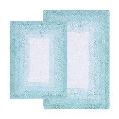 Porcelain Blue Whitney Ombre 2-pc. Bath Mat Set