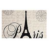 Eiffel Tower Paris Typography Accent Rug, 3x5