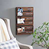 Dream, Inspire, Gather Pallet Clip Collage Frame
