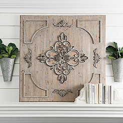 Rustic Metallic Medallion Wall Plaque