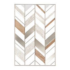 Abstract Arrows Wood and Metal Wall Plaque