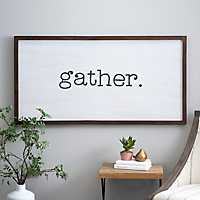 Gather Wooden Board with Lip Wall Plaque