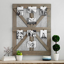 Galvanized Barn Door Collage Frame with Clips