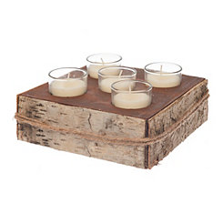 Birch Bark 5-Votive Holder Set