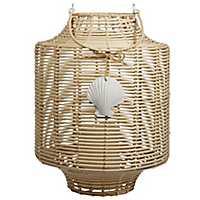 Woven Seashell LED Lantern