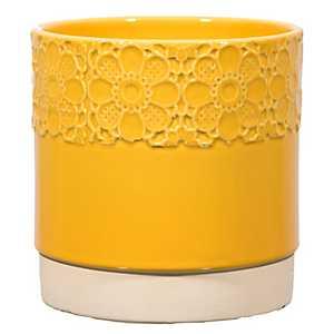 Yellow Daisy Planter