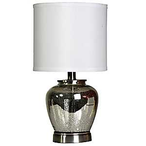 Silver Mercury Glass Urn Table Lamp