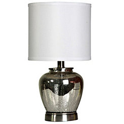 Silver Mercury Glass Urn Table Lamp