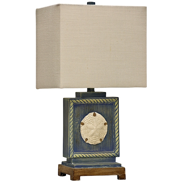 ... Deep Water Point Coastal Table Lamp; Blue ...