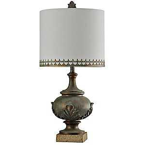 Antique Bronze Finish Table Lamp