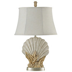 Ivory Scallop Table Lamp