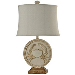 Ivory Crab Table Lamp