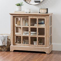 Candice Sliding Windowpane Door Cabinet